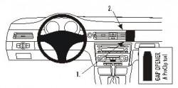 Fixation voiture Proclip  Brodit BMW 316-330/E90/E91/E92/E93  PAS pour les modèles avec option GPS d'origine. PAS pour le finition bois Réf 853599