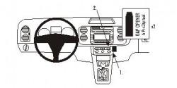 Fixation voiture Proclip  Brodit Volkswagen Golf Plus Réf 853610