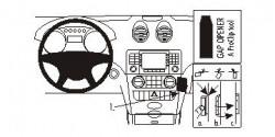Fixation voiture Proclip  Brodit Mercedes Benz M-Class/ML  PAS pour la finition bois Réf 853623