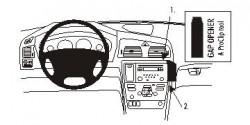 Fixation voiture Proclip  Brodit Volvo S60  PAS pour la finition bois Réf 853649
