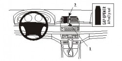 Fixation voiture Proclip  Brodit BMW X5  SEULEMENT pour les modèles avec système de navigation. Réf 853656