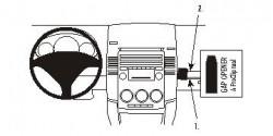 Fixation voiture Proclip  Brodit Mazda 5  Placé au-dessus de la boîte à gants. Réf 853657