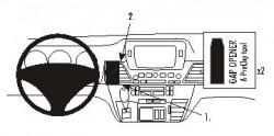 Fixation voiture Proclip  Brodit Honda FR-V  SEULEMENT pour la finition bois Réf 853667