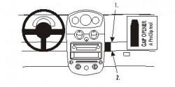 Fixation voiture Proclip  Brodit Chevrolet Matiz Réf 853679