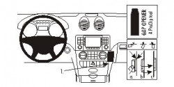 Fixation voiture Proclip  Brodit Mercedes Benz M-Class/ML  SEULEMENT pour la finition bois Réf 853682