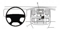 Fixation voiture Proclip  Brodit Dodge Ram Pick Up 1500  PAS pour une utilisation avec l'écran de navigation de l'usine Réf 853705