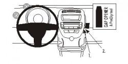 Fixation voiture Proclip  Brodit Citroen C1 Réf 853717