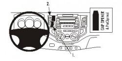 Fixation voiture Proclip  Brodit Toyota Fortuner Réf 853721