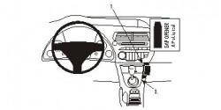Fixation voiture Proclip  Brodit Honda Civic Réf 853733