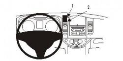 Fixation voiture Proclip  Brodit Nissan Note Réf 853735