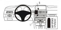 Fixation voiture Proclip  Brodit BMW 316-330/E90/E91/E92/E93  SEULEMENT pour les modèles avec option GPS d'origine. SEULEMENT pour la finition bois Réf 853737