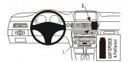 Fixation voiture Proclip  Brodit BMW 316-330/E90/E91/E92/E93  SEULEMENT pour les modèles avec option GPS d'origine. SEULEMENT pour la finition bois Réf 853738