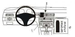Fixation voiture Proclip  Brodit BMW 316-330/E90/E91/E92/E93  PAS pour les modèles avec option GPS d'origine. SEULEMENT pour la finition bois Réf 853739