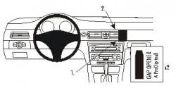Fixation voiture Proclip  Brodit BMW 316-330/E90/E91/E92/E93  PAS pour les modèles avec option GPS d'origine. SEULEMENT pour la finition bois Réf 853740