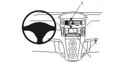 Fixation voiture Proclip  Brodit Toyota Yaris Réf 853741