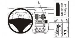 Fixation voiture Proclip  Brodit Hyundai Getz Réf 853748