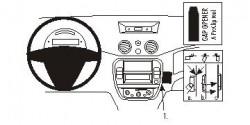 Fixation voiture Proclip  Brodit Citroen C2 Réf 853751