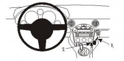 Fixation voiture Proclip  Brodit Mazda Miata Réf 853755