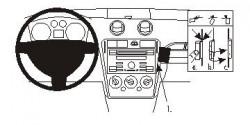 Fixation voiture Proclip  Brodit Ford Fusion Réf 853798