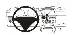 Fixation voiture Proclip  Brodit BMW 520-545/M5 E60, E61  SEULEMENT pour M-Sport. Réf 853802