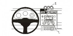 Fixation voiture Proclip  Brodit Toyota FJ Cruiser Réf 853837