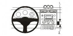 Fixation voiture Proclip  Brodit Toyota FJ Cruiser Réf 853838