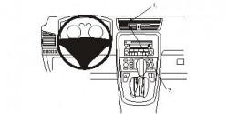 Fixation voiture Proclip  Brodit Fiat Croma Réf 853862