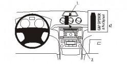 Fixation voiture Proclip  Brodit Ford Galaxy  Pour les modèles à la fois avec et sans compartiment de stockage supérieure. Réf 853865