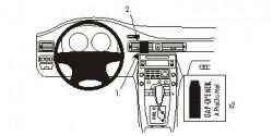 Fixation voiture Proclip  Brodit Volvo S80  PAS pour la finition bois Réf 853867