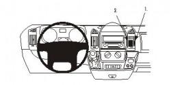 Fixation voiture Proclip Brodit Citroen Jumper Réf 853877