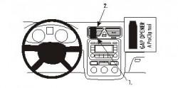 Fixation voiture Proclip  Brodit Volkswagen Eos Réf 853882