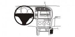 Fixation voiture Proclip  Brodit Saab 9-3  Va bloquer le porte-gobelet. Réf 853902