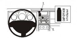Fixation voiture Proclip  Brodit Dodge Nitro  PAS pour les modèles avec écran de navigation. Réf 853929