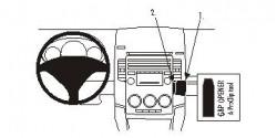 Fixation voiture Proclip  Brodit Mazda 5  Placé sous ventilation de l'air. Réf 853939