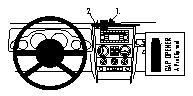Fixation voiture Proclip  Brodit Jeep Wrangler Réf 853945