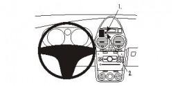 Fixation voiture Proclip  Brodit Opel Corsa  PAS pour les modèles avec la navigation de l'usine ou grand écran. Réf 853955