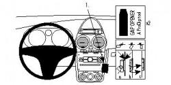 Fixation voiture Proclip  Brodit Opel Corsa Réf 853956