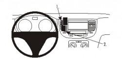 Fixation voiture Proclip  Brodit Kia Rio Réf 853963