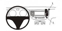 Fixation voiture Proclip  Brodit Kia Rio Réf 853964