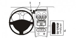 Fixation voiture Proclip  Brodit Nissan Qashqai Réf 853965
