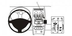 Fixation voiture Proclip  Brodit Nissan Qashqai Réf 853966
