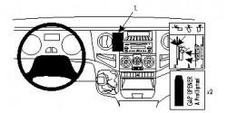Fixation voiture Proclip  Brodit Iveco Daily Réf 853968