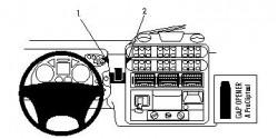 Fixation voiture Proclip  Brodit Iveco Stralis Réf 853970