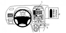 Fixation voiture Proclip  Brodit Citroen Jumpy III Réf 853972