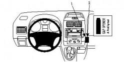 Fixation voiture Proclip  Brodit Citroen Jumpy III Réf 853973