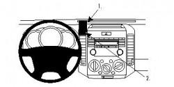 Fixation voiture Proclip  Brodit Ford Ranger Réf 853977