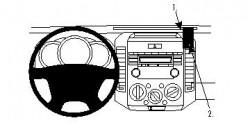 Fixation voiture Proclip  Brodit Ford Ranger Réf 853978