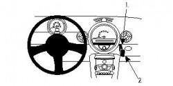 Fixation voiture Proclip  Brodit Mini Cooper  PAS pour les modèles avec boîte à gants supérieure. Réf 853979