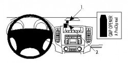 Fixation voiture Proclip  Brodit Mitsubishi Pajero Réf 853981