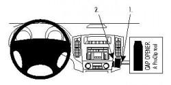 Fixation voiture Proclip  Brodit Mitsubishi Pajero Réf 853982